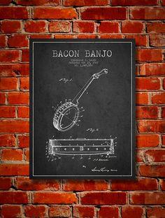 1927 Bacon Banjo Patent Canvas Print Wall Art by PatentsWallArt