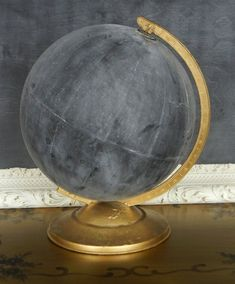 DIY Globe Chalkboard would be fun in a #dorm  #upcycle #recycle