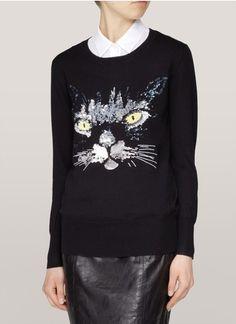 Black CAT Lives Matter Printed Newborn Kids Crew Neck Sweater Long Sleeve Cute Knit Sweater Jumper