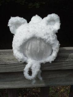 Hey, I found this really awesome Etsy listing at https://www.etsy.com/listing/244160165/white-polar-bear-hat-white-bear-bonnet