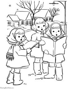 Free, printable Christmas coloring pages!