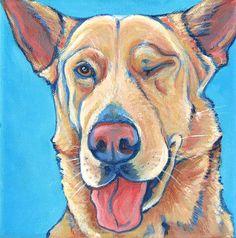 Custom Pet Portrait in Acrylic Paint on Canvas by bethanysalisbury, $60.00  I want one!!