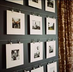 Picture wall. Great idea to showcase my photography