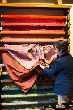 The Finest Silk---Antico Setificio Fiorentino one of the oldest silk making houses in Florence Italy, with roots dating back to the Medici rulers in the 15th century, the house still hand dyes its fabrics without chemicals on looms designed by Leonardo Da Vinci.
