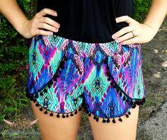 Coachella Shorts Pattern Women XS-XXL — Striped Swallow Designs