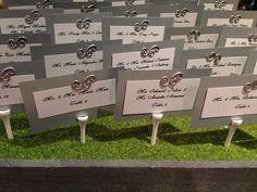 Golf tee place card holders 2/Escort Card