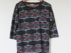Ladies  M&S  Long Sleeved Multi Coloured Top Size 12