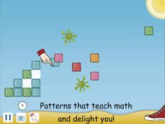 Crackers & Goo ($0.00 with 0.99 iAP) Math is the science of patterns, and Crackers and Goo uses patterns to teach addition and multiplication concepts in a very visual manner. •Counting and skip-counting by 1's, 2's, 5's, 10's, and 100's  •Pattern recognition and sorting •Addition within 10, 20, 100, and 1,000 •Mental arithmetic strategies, including grouping •Repeat-addition, leading to multiplication  •Rounding and multiplying •Expanding and multiplying •Algebraic concepts