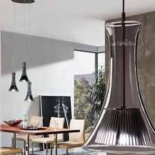 Lustre DEL 13 5 watts suspension lustre lampe chrome verre éclairage