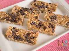 No bake chewy choc chip museli bars