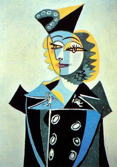 Picasso: Portrait de Nusch Eluard (1937) - ✯ http://www.pinterest.com/PinFantasy/arte-~-pintura-pablo-picasso/