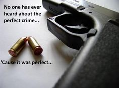 """""""No one has ever heard about the perfect crime... 'Cause it was perfect"""""""