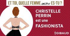 Christelle PERRIN est une FASHIONISTA.  Toujours au top ! Exit les jogging, vestes à capuches et tongs en plastique. Place au glamour, à la dentelle et aux paillettes. Astucieuse, vous créez votre haut dos-nu avec votre paire de collants plumetis Activline.