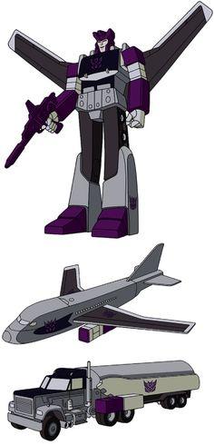 Decepticon Triple Changer Octane G1 Artwork