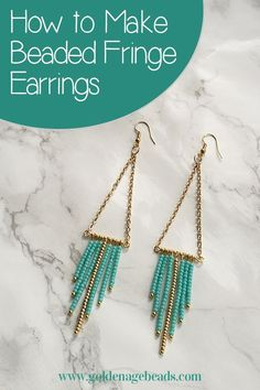Beaded Fringe Earrin