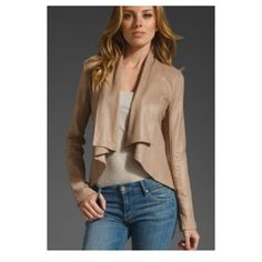 Krisa Jackets & Coats - Krisa Coated Drape Jacket