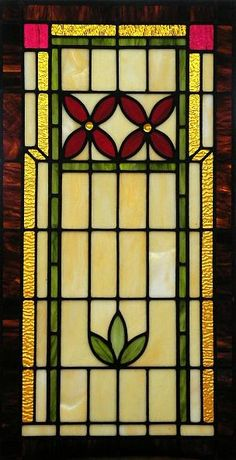 craftsman style windows | craftsman style sidelight window this craftsman style stained glass ...     Stained Glass is a must!
