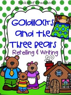 Story sequence cards for Goldilocks & the Three Bears! Teacher pages include a 5 day plan for circle time!  Pocket of Preschool