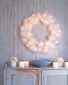 Paper-Doily Wreath
