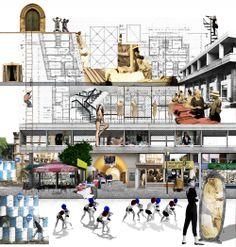 """Bienal de Venecia 2014: """"Anatomía histórica mediante un collage"""" presentando por capas la historia de la capital de Chipre"""