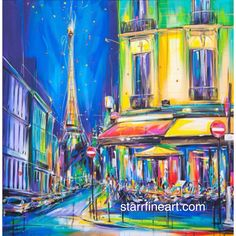 Paris cafe .......by STARR . #starrfineart.com