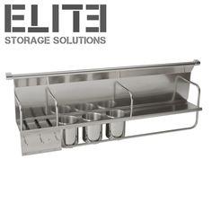 Industrial and minimalist kitchen storage