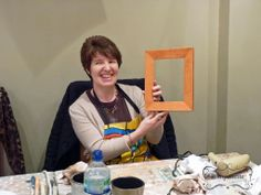 Sue went all guns blazing on colour & produced a superb Barcelona Orange frame - bet it looks stunning in your room :) (23rd February 2014)