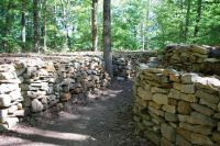 Wichahpi Commemorative Stone Wall, Florence Alabama - just off the Natchez Trace.