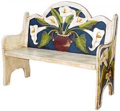 The perfect combination of beauty and utility, this stunning blue lily bench will add color and charm to any seating area. Hand carved and hand painted by highly skilled artisans in central Mexico, these benches are heirloom-quality, to be passed down from one generation to the next. So summon the interior designer from within, and create a fabulous new space in your home with this striking lily bench as the centerpiece.