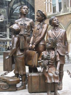The Kindertransport Statue, Liverpool Street Station, London. Commemorates the transportation of endangered jewish children.