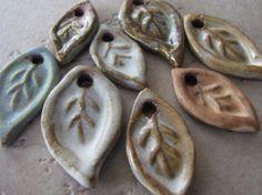 Handmade ceramic beads by Starry Road Studio