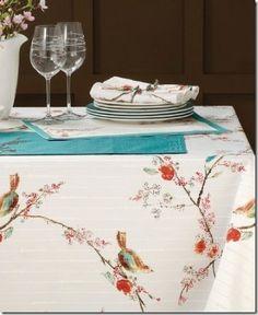 Winter Table Cloths (birds & flowers)