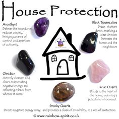 House Protection Crystal Set The crystals in this set have been carefully selected to complement each other and to provide protection for a harmonious home. The set includes five stones (Amethyst, Obsidian, Rose Quartz, Smoky Quartz and Black Tourm Crystal Healing Stones, Crystal Magic, Crystal Shop, Crystal Grid, Amethyst Crystal, Crystal Altar, Healing Crystal Jewelry, Grounding Crystals, Black Amethyst