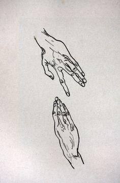 Egon Schiele. Estudio de manos.