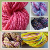 Stockannette: Handmade Promenade opens tomorrow! Just a few of my #handspun #yarn skeins that will be there! #indianapolis #shoplocal #smallbusinesssaturday @Martha Latta