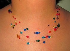 awesome DIY Bijoux - .: The Floating Bead Necklace Tutorial