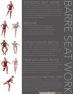 This classic barre workout is an amazing butt and back thigh (aka, hamstrings) lifter. You will need a strong and stable support to hold onto for balance. A mir Barre Core, Pilates Barre, Ballet Barre, Pilates Workout, Barre Workouts, Body Workouts, Pure Barre, Lunge, I Work Out