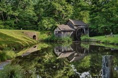 Old Mill Photo & Reflection