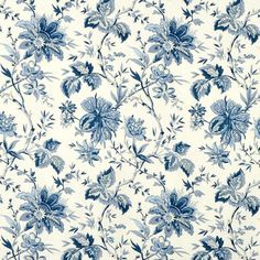 Shop Waverly Felicite Indigo Fabric at onlinefabricstore.net for $15.2/ Yard…