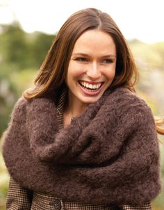 for Fluffy Mohair Cowl! This little beauty knit in