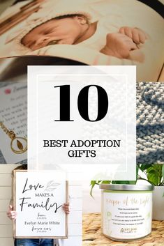 10 unforgettable adoption gifts that honor adoptive parents, birth parents and adoptees alike. Adoption Books, Open Adoption, Adoption Gifts, Parent Gifts, Gifts For Family, Best Thank You Gifts, Gotcha Day, Birth Mother, Adoptive Parents