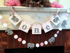 I am One Banner - elephant 1st birthday cake Smash photo prop - High Chair garland decor - first birthday garland - your color choices by anyoccasionbanners on Etsy https://www.etsy.com/listing/400542891/i-am-one-banner-elephant-1st-birthday