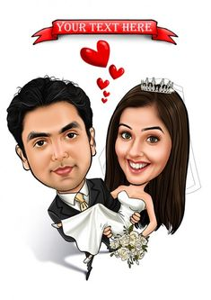 Caricature Gifts, Wedding Caricature, Caricature From Photo, Corporate Giveaways, Gifts For An Artist, Wedding Function, Cool Suits, Wedding Couples, How To Draw Hands