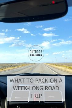 Complete packing list for a six-day or week-long road trip. Perfect for beginners. Keeps it simple and easy.