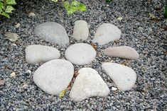 dry river beds rock garden ideas | Who won't try this one? #RockGarden