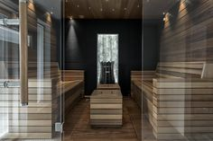 Find more info at the site press the bar for even more info --- sauna installation Sauna Design, Spa Rooms, Saunas, Dream Rooms, Relax, House Design, Wellness, Bathroom, Architecture