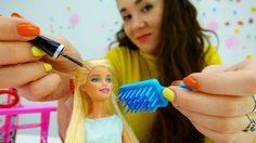 Детское видео про кукол: Барби и вечеринка. Игрушки для девочек и одевал...
