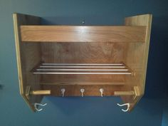 Hockey gear locker by JM Custom Woodworking. For goalie equipment. He builds toys and other furniture, too! Check it out.