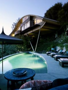Garcia House by John Lautner. Los Angeles, California. Also known as the Rainbow House, it was built in 1964 for jazz legend Russ Garcia