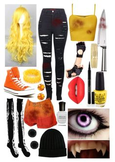 """Nightmare Chica (Human FNAF Girls)"" by thefnaftheorists ❤ liked on Polyvore"